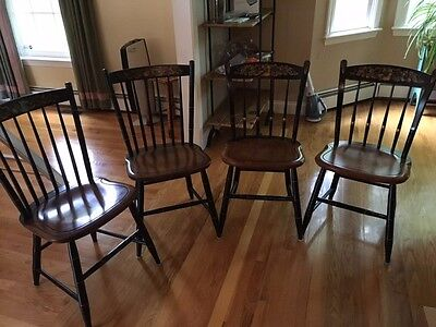 "Stenciled HITCHCOCK 44"" dining chairs (4)"