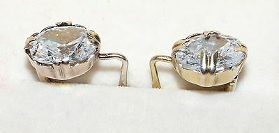 Adorable Vintage EARRINGS Silver GOLD PLATED 875 USSR