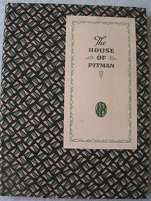 Book: The House of Pitman - 1930 - Art Deco Cover, 30 plates