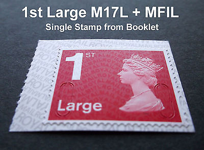 NEW JUNE 2017 1st LARGE M17L + MFIL MACHIN SINGLE STAMP from Booklet