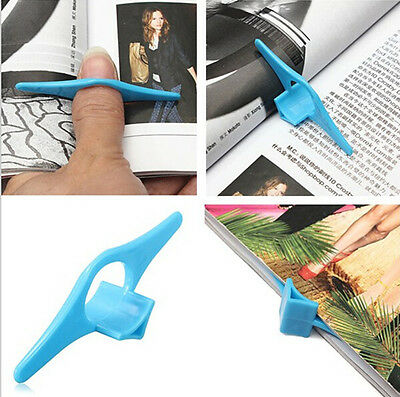 4PCS Plastic Thumb Book Marker Bookmarks Page Holder Finger Reading Assistant