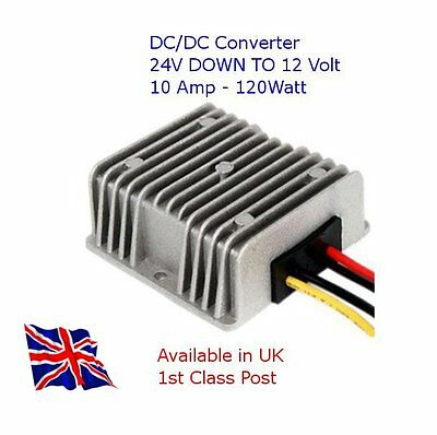 DC/DC Voltage Converter, 24V Step Down to 12V 10A 120W - TRUCK - MOTORHOME