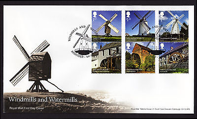 2017 WINDMILLS and WATERMILLS STAMP SET FDC FIRST DAY COVER - Ashford Handstamp
