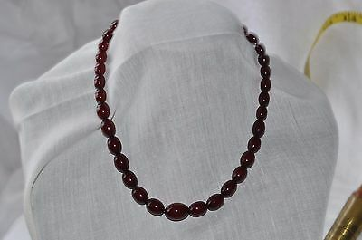 "16"" Amber Beaded Necklace - Cherry Amber"