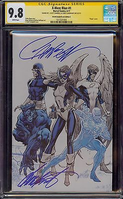 X-Men Blue 1 Cgc 9.8 2X Ss J Scott Campbell And Chris Claremont Virgin Variant