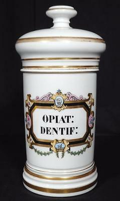 c.1880 OPIAT DENTIF Paris Porcelain Pharmacy Apothecary Jar
