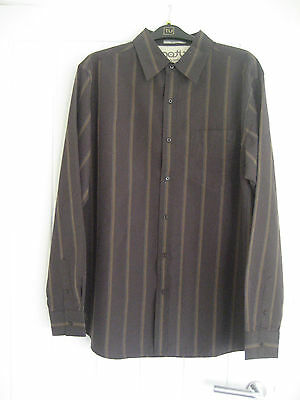 Matix Marc Johnson long sleeve skate shirt. Size large colours brown.