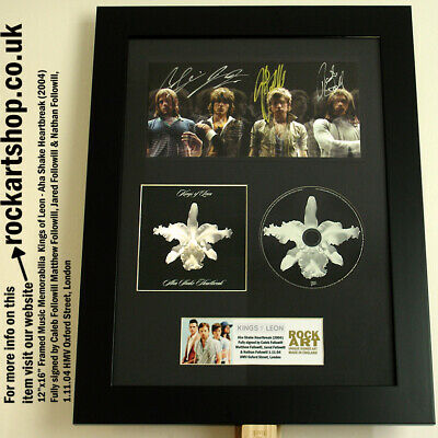 KINGS OF LEON Aha *FULLY SIGNED CALEB+MATTHEW+JARED+NATHAN 1.11.04 HMV London*