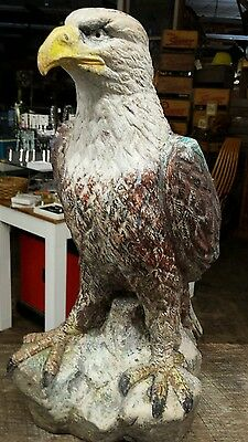"15"" Ceramic Eagle. Interior or exterior statue"