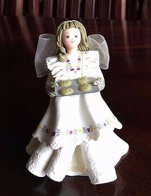 (2) Kneeded Angels Sweet Success # 6016 Plus Angel Ornament Pavillion Gift Co.