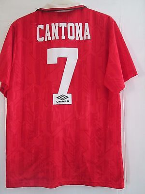 Manchester United Cantona 1992-1994 Home Football Shirt Size Extra Large /41637