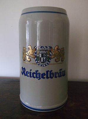 HUGE 2 Ltr REICHELBRAU GERMAN BEER STEIN by STUDIO WAGNER