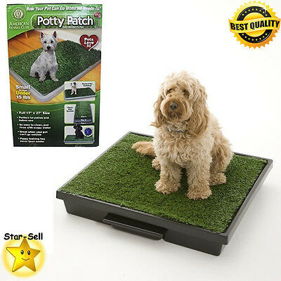 Indoor Puppy Potty Trainer Pets Grass Dog Mat Patch Pee Pad Training Rug Green