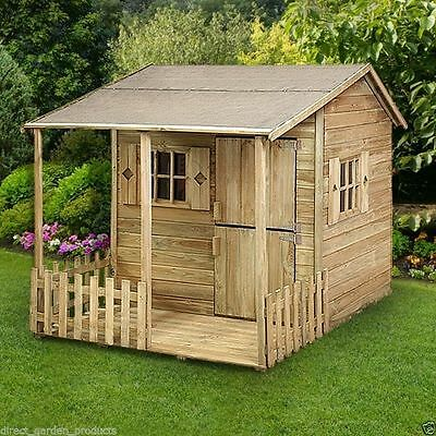 5ft x 6ft WOODEN CHILDRENS PLAYHOUSE STABLE DOOR KIDS PLAY HOUSE CHILDS DEN NEW