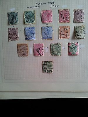 Stamps - INDIA used  selection  QUEEN  VICTORIA