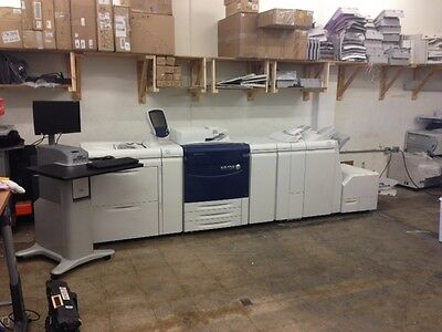 Xerox 770 Digital Color Press Copier Printer Dual Oversize LCT Booklet Trimmer