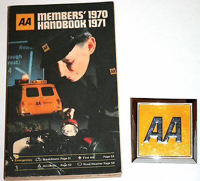 Near Mint Condition Aa Badge (Unused) +  Aa Handbook 1970