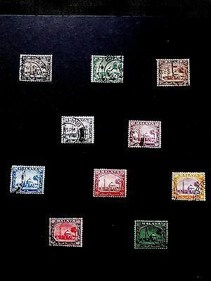 Nice 5 Page Collection of Malayan Stamps removed from old albums - Malaya