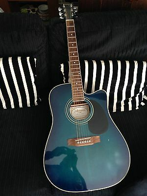 johnson by axl electro electric acoustic guitar and amp