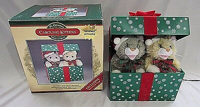 Mr Christmas Caroling Kittens Motion Activated Animated Present Music Singing