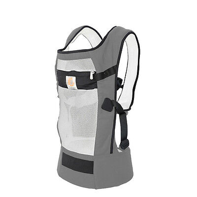 Summer Breathable Mesh Three Position 360 Baby Kids Carrier Backpack Gray Ergo