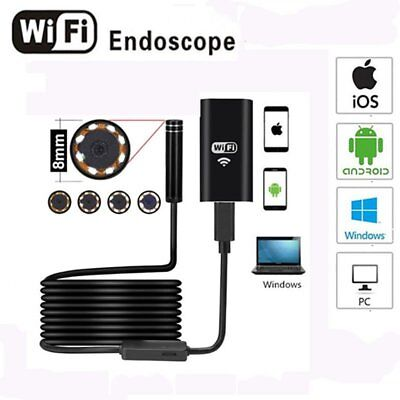 Waterproof 8mm Android Endoscope Borescope Snake Inspection Camera Scope US#F