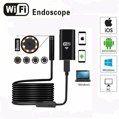 Waterproof 8mm Android Endoscope Borescope Snake Inspection Camera Scope CA#F