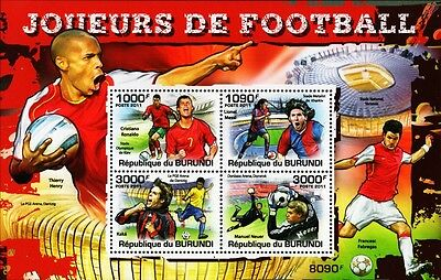 2011 FOOTBALL Players Stamp Sheet (Ronaldo/Messi/Kaka/Neuer/Henry/Fabregas)