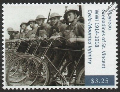 WWI Black Watch (Royal Highlander Regiment) / Army Bicycle Infantry Stamp
