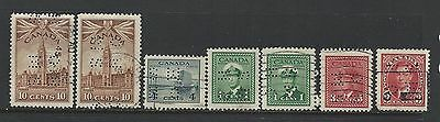 Canada - Small Lot Of Ohms Perfin Used Stamps