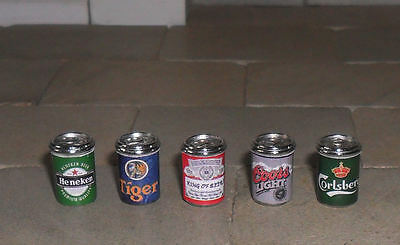 Dolls' House 1/12Th Scale Set Of Beer Cans