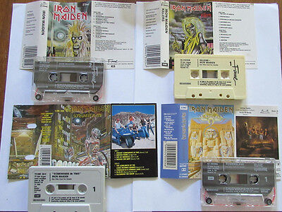 Iron Maiden  Lot X 4  K7 Audio  Powerslave   Somewhere In Time  Killers