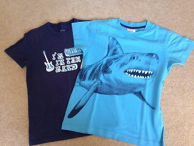 Mini Boden Boys T-Shirts x 2 - Age 7-8 years