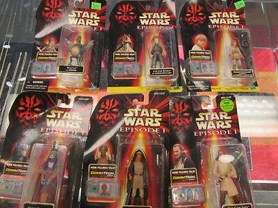 Star Wars  Episode 1 Commtech Chip & Action Figures Lot of 6