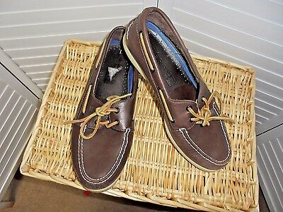Sperry Top Sider Men's Brown Leather Boat Shoes Sz 11M Moccasins