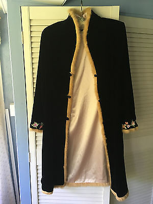 Ladies velvet evening coat by CADARI LONDON, size small