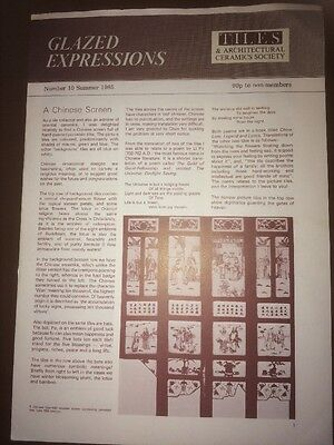 Glazed Expressions No.10 Summer 1985 Tiles & Architectural Society Magazine