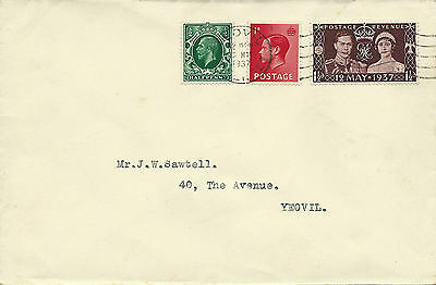GB 1948 Olympics Set (4) on FDC from Stockport to Cheadle Hulme