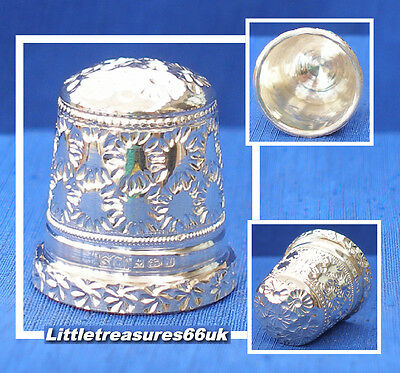 Silver 1987 Swann's Thimble.....hand Chased