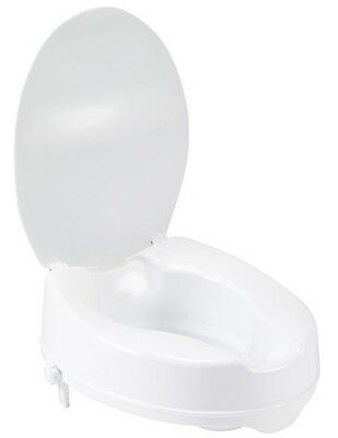 "New! 12067 Drive Medical Raised Toilet Seat W/ Lock & Lid Standard 6"" Height"