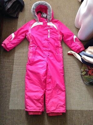 Girls 7-8 Campri Pink All In One Ski Snowboarding Suit