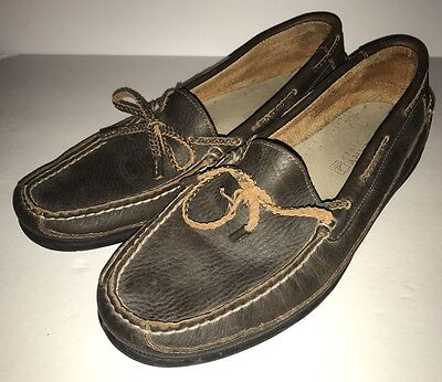 Mens Sperry Top Sider Slip on Soft Leather Boat Shoes 13 M #0278433