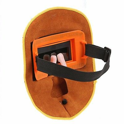 Hot Protable Leather Welding Solar Auto Darkening Filter Lens Hood Helmet Mask