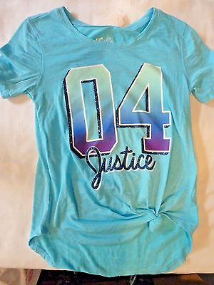 Justice blue short sleeve t-shirt s:7/8 Excellent condition