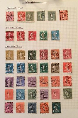 France. A Small Collection Of Sowers. 1903-20