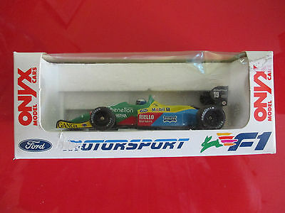 Onyx Die Cast F1 Benetton Ford No B188 Alessandro Nannini. Mint Boxed.