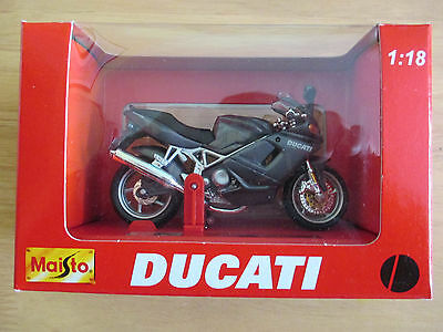 Maisto 1:18 Scale Ducati ST4 Motorcycle. Mint In Display Box.