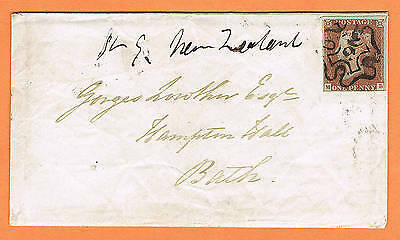 Great Britain 1843 Cover with enclosure, cancelled Maltese Cross no.9