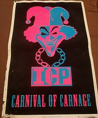 Insane Clown Posse Carinval of Carnage  Blacklight Poster twiztid kid rock esham