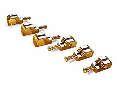 Babicz Full Contact Hardware Strat/Stratocaster Narrow Bridge Saddle Set - GOLD